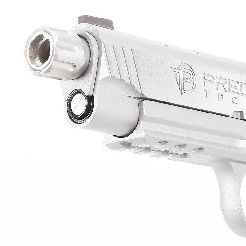 King Arms【銀色】Predator Tactical Night Shrike .45 ACP (1911) 全金屬瓦斯手槍