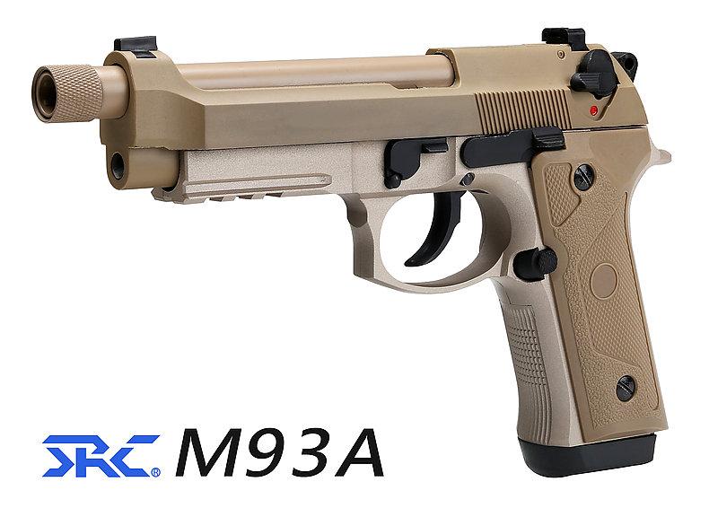 SRC【沙色】M9A3  雙動力 全金屬瓦斯槍 GBB CO2 雙系統 (附贈槍箱),手槍 BB槍 M92 貝瑞塔