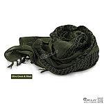 點一下即可放大預覽 -- 綠色~高品質 100%純棉版 野戰用阿拉伯方巾,圍巾,頭巾,披肩
