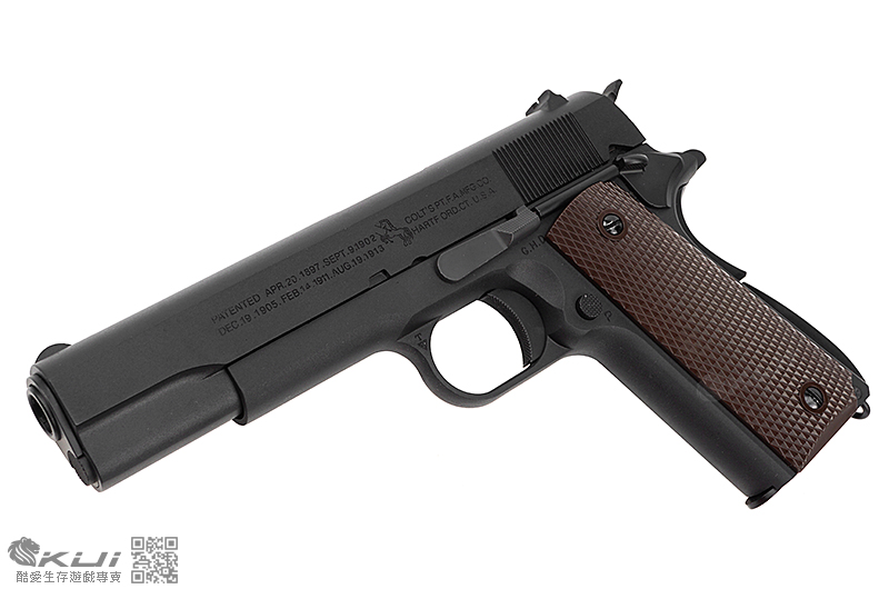 WE【黑】原廠授權 小馬刻字 M1911 全金屬瓦斯槍,手槍 BB槍 二戰 美軍 短槍 .45 深刻