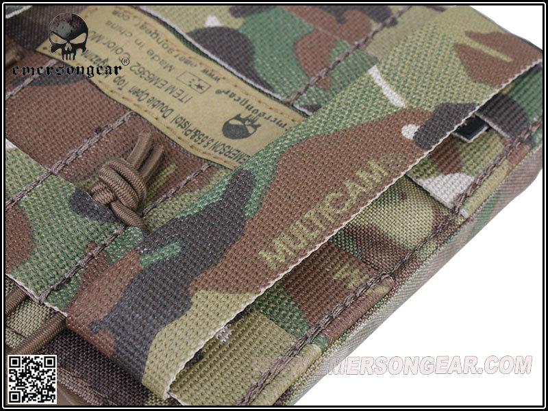 EmersonGear 愛默生【多地】MOLLE 5.56上開式 手槍雙聯彈夾袋(500D)