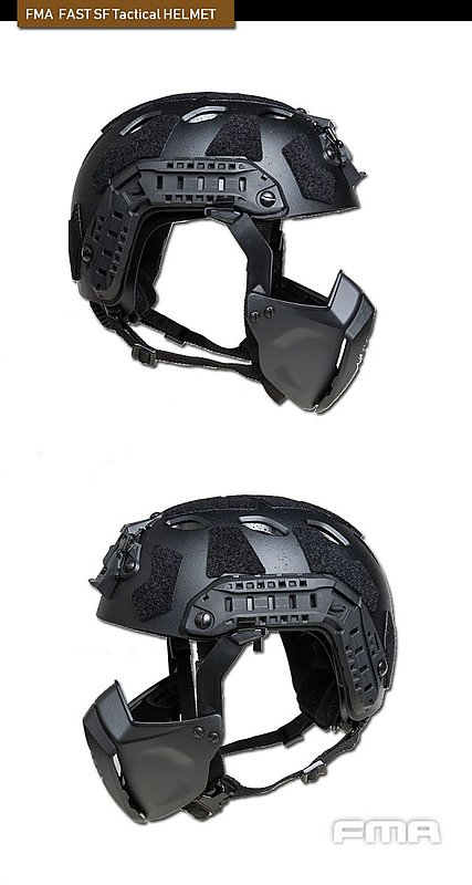 FMA【多地迷彩】FAST SF 戰術頭盔+面罩組 護具 生存 安全