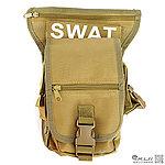 限量優惠!TAN狼棕色~特戰勤務腰腿掛包,雜物包,通勤包,掛包,收納包,腰包,收納袋,工具袋 (生存遊戲.機車.環島.登山)