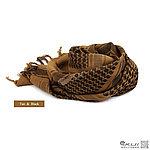 點一下即可放大預覽 -- 狼棕色~高品質 100%純棉版 野戰用阿拉伯方巾,圍巾,頭巾,披肩