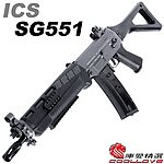 點一下即可放大預覽 -- 一芝軒 ICS SG 551 全金屬 電動槍,電槍