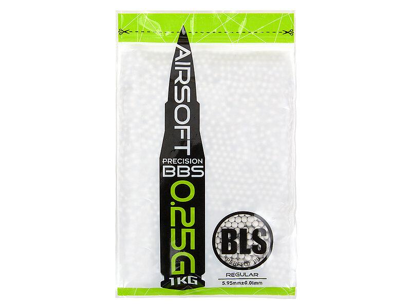 『 0.25g 』BLS 5.95mm 精密研磨 BB彈 (1公斤裝,約4000顆)