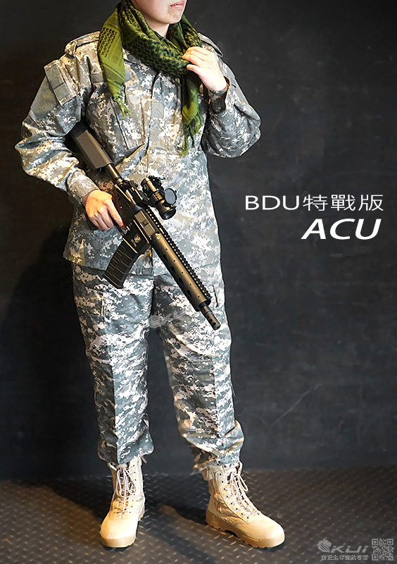 特價!美軍三代ACU迷彩套服BDU特戰版 (M號上衣+褲子) 迷彩服 戰鬥服