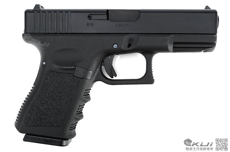 KSC/KWA G19 克拉克 瓦斯槍,手槍,短槍,生存遊戲BB槍(鋁合金滑套+鋁合金槍管)