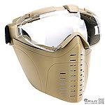 點一下即可放大預覽 -- 戰斧全罩式風扇面罩,造型面罩,護目鏡 - 生存遊戲 帶眼鏡可用 (沙色)
