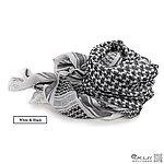點一下即可放大預覽 -- 黑白色~高品質 100%純棉版 野戰用阿拉伯方巾,圍巾,頭巾,披肩