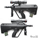 點一下即可放大預覽 -- UHC MINI AUG Q版電動槍,小朋友電動槍