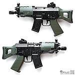 點一下即可放大預覽 -- UHC MINI SIG 550 Q版電動槍,小朋友電動槍∼買槍送電池