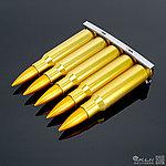 點一下即可放大預覽 -- 正美製 7.62 x 51 NATO .308 金屬裝飾夾條,子彈鏈(5顆)